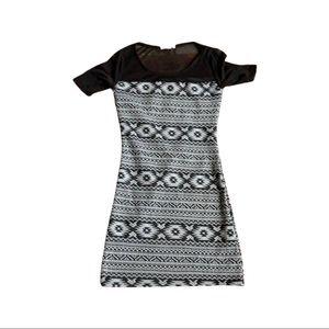Aztec mesh dress